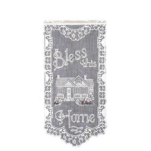 Heritage Lace Bless This Home with Tulips 12-Inch by 27-Inch Wall Hanging, Ecru