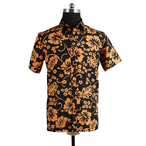 CosplaySky Fear and Loathing in Las Vegas Costume Raoul Duke Shirt Large -