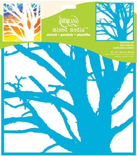 DecoArt Americana Mixed Media Stencil, 12 by 12-Inch, Branching Out