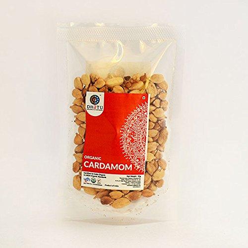 Dhatu Organics Organic Cardamom Whole Green Pure Indian taste cuisine Indian food - Quick cook, good for health50g