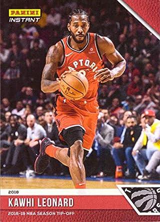 1bce2e1c1 Amazon.com  2018-19 Panini Instant  1 Kawhi Leonard Basketball Card ...