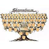 """Schmuckbild """"Stammbaum"""": Kunstdruck-Ahnentafel in Baumform"""