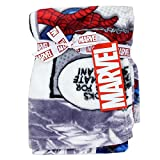 Spiderman 30'' x 30'' Soft Flannel Fleece Baby Blanket, Marvel Blankets for Little Boys, Spiderman Comics Designed Blanket