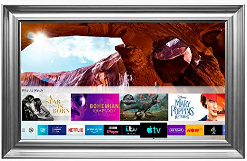 Framed Mirror TV with Samsung 8 Series 4K Ultra HD HDR Smart LED TV – Spoon Frame (55 inch, Silver)