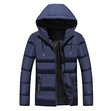 e4c0754dbfd8 Kobay Hommes Hiver Loisirs zippé à Capuche Doudounes Manteau col Montant  Manteaux Outwear(Medium