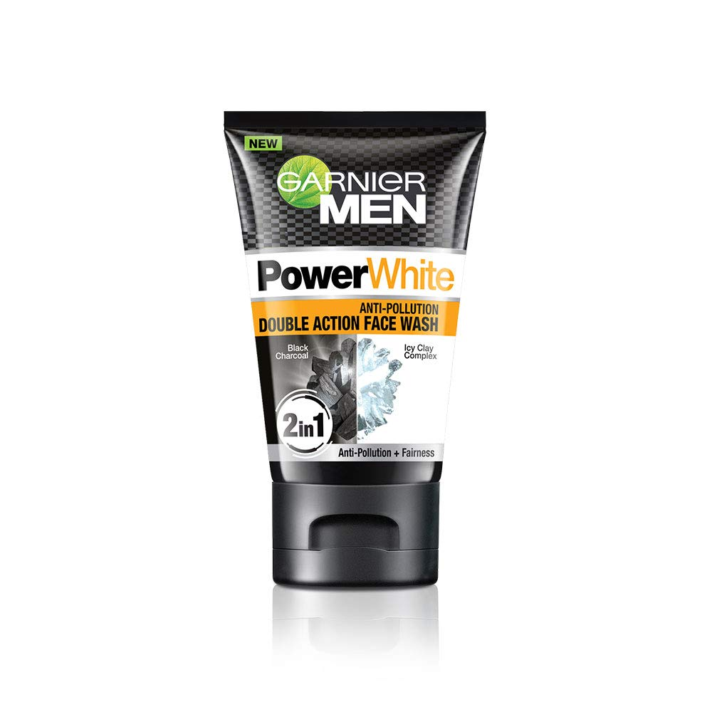 Garnier Men Power White Anti-Pollution Double Action Facewash, 100gm product image