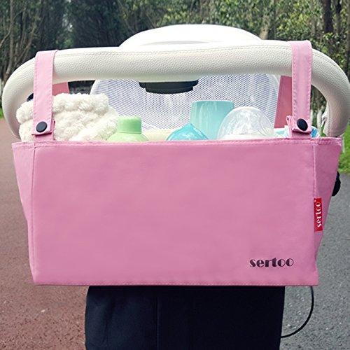 Bolso del carro de bebé que cuelga el bolso del almacenaje de la botella del bolso Bolso de la momia que carga los accesorios del carro de bebé que cuelga el bolso del almacenaje del bebé del bolso (  Pink