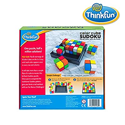 ThinkFun Color Cube Sudoku - Fun, Award Winning Version of Sudoku Using Colors Instead of Numbers For Age 8 and Up: Toys & Games