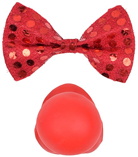 Easy Halloween Costume Ideas 2016 (Clown Costume Accessories Bow Tie and Clown Nose Halloween Cosplay Accessories)