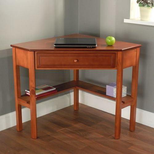 Escritorio esquinero de madera de cerezo. Este escritorio para ...