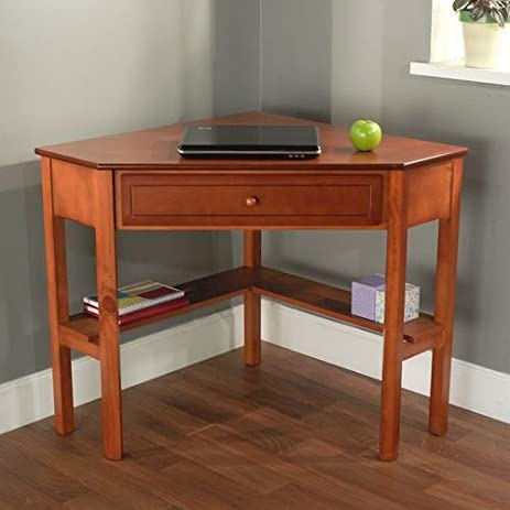 Cherry Wood Corner Computer Desk This Laptop Is Perfect For Small Computers And Space