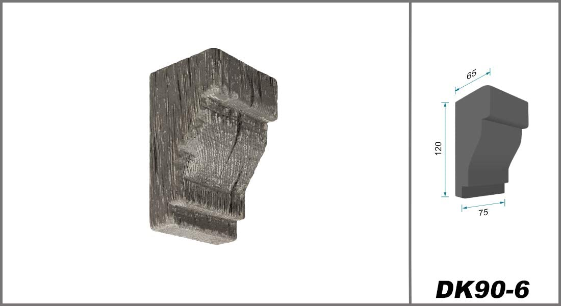 haz de luz Cosca 1 consola 75 x 65 mm poliuretano DK90 blanco aspecto de madera