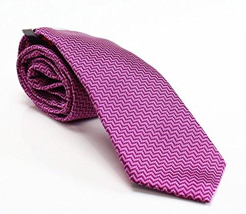 Berry Tie - Alfani Men's Geo Slim Tie (One Size, Berry)
