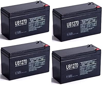 12V 7AH 7.5ah 8ah 12 Volt SLA Sealed Lead Acid Fish Finder Battery - 4 Pack by UPG