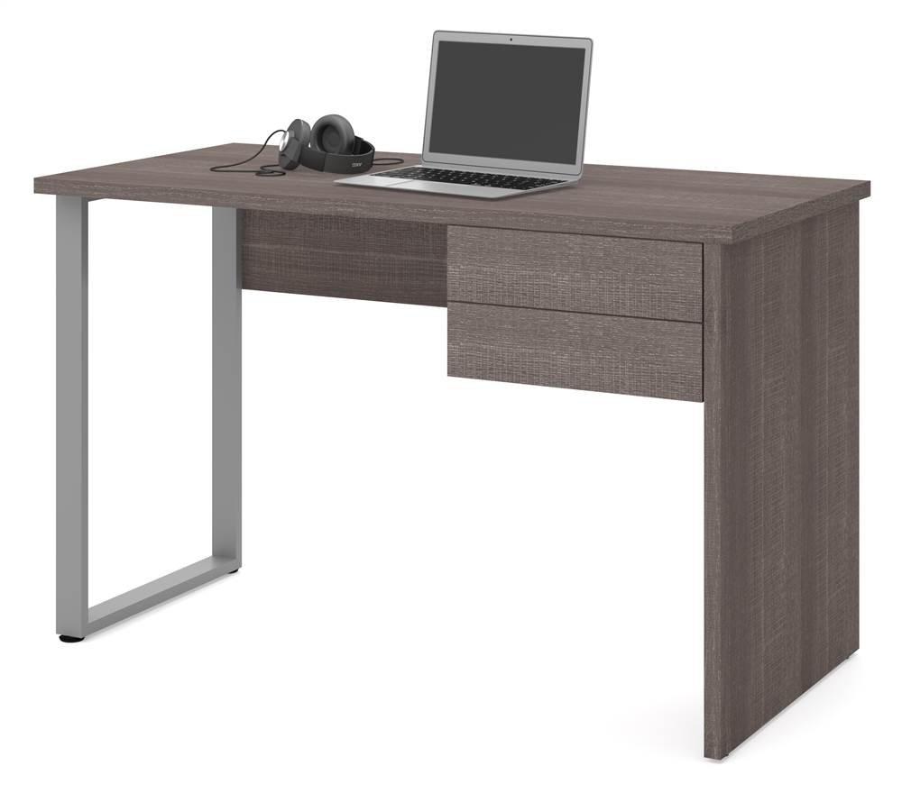 Bestar Solay Computer Desk in Bark Gray