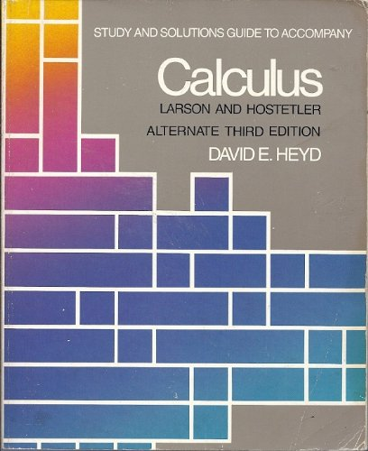 Study and Solutions Guide for Calculus (Alternate Fifth Edition)