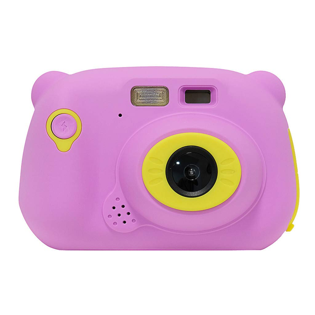 Kids Camera 12MP Rechargeable Digital Front and Rear Selfie Camera Child Camcorder,Binory WiFi Share 4480x2720P Mini Children's Video Camera Silicone Cover Toy Gift for 4-10 Years Old Boys Girls(Pink)