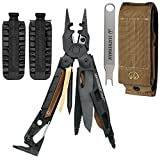 Leatherman MUT Military EOD Stainless Steel Multi-Tool 850031, With Black Oxide Coating and Molle Brown Sheath + 42 Piece Bit Kit + Mut Multi-Tool Wrench