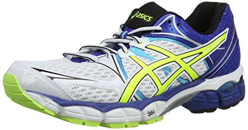 107 Pied white De Asics À Gel blue Pulse flash 6 Yellow Course Chaussures Blanc aaOqpwB
