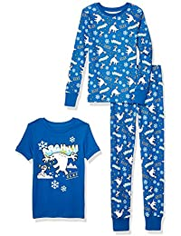 Amazon Brand - Spotted Zebra Boys Disney Star Wars Marvel Snug-Fit Cotton Pajamas Sleepwear Sets