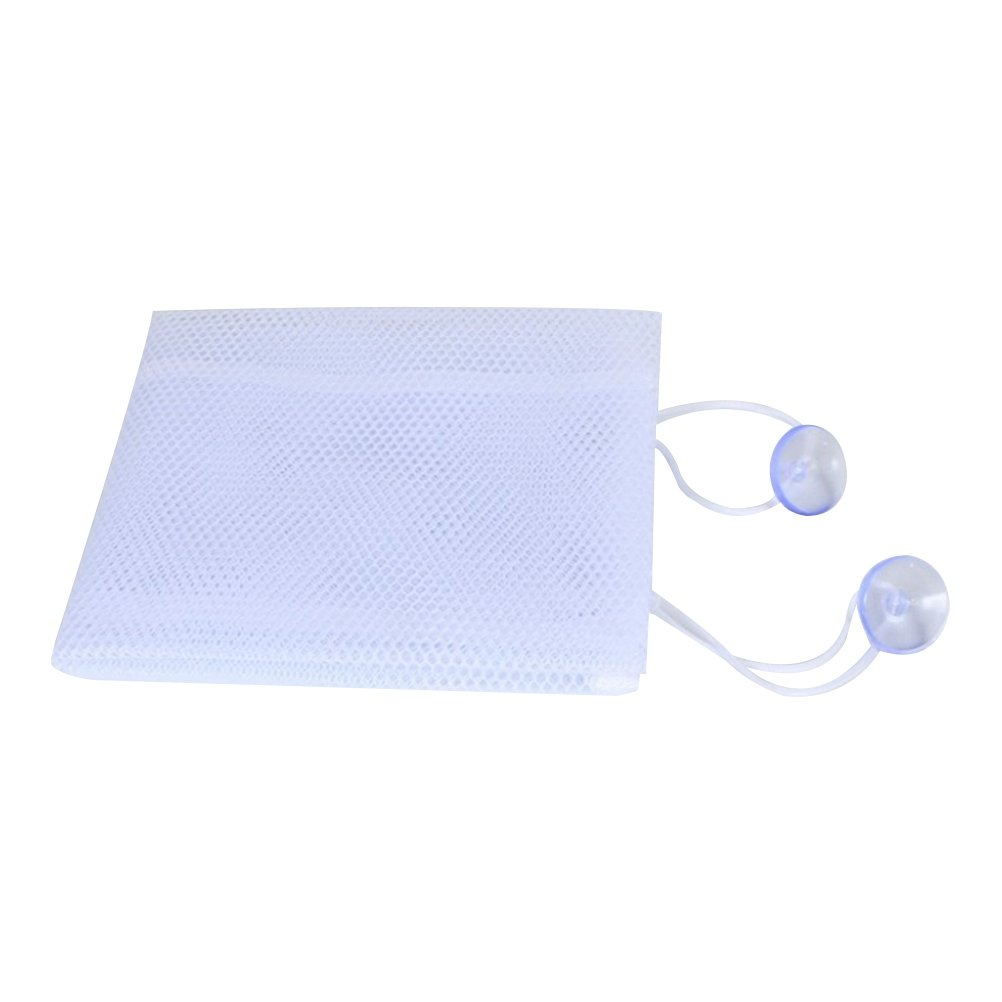 STOBOK Bañera Organizador de Juguetes Bolsas de Almacenamiento de Juguetes de baño con Gancho 35x45cm (Blanco)
