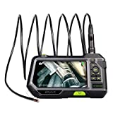 Dual Lens Endoscope Inspection Camera-Anykit NTS500 5.5mm 3 Meter Waterproof Borescope Snake Inspection Tube Camera (2.7' Screen with 8.2mm/3M Camera Probe)