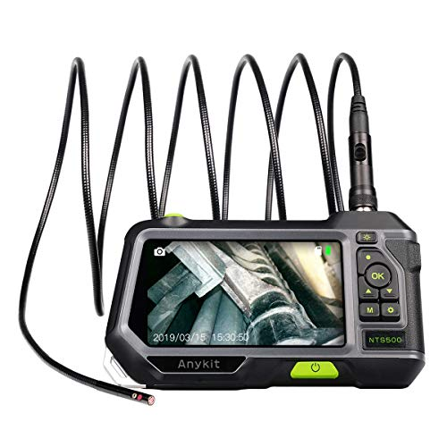 Dual Lens Endoscope Inspection Camera-Anykit NTS500 5.5mm 3 Meter Waterproof Borescope Snake Inspection Tube Camera with 5