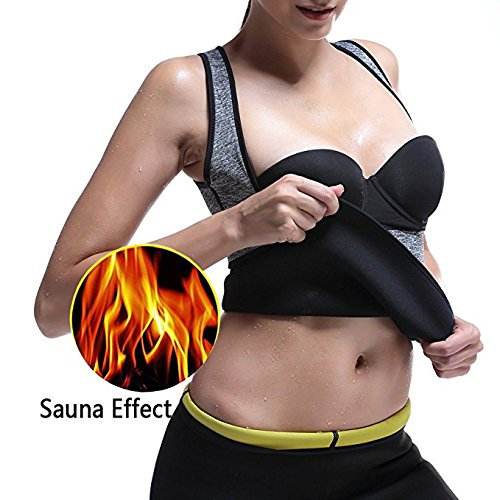 Firecos Slimming Body Shaper for Women Belly Fat Burner Hot Sweat Sauna Vest Tank Top Weight Loss Shapewear(XL)