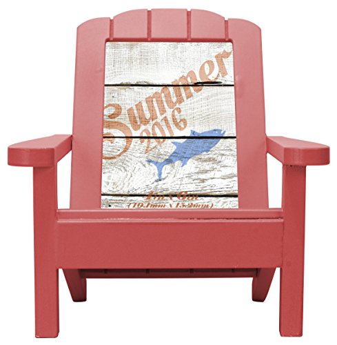 Malden International Designs Dimensional Red Wood Adirondack Chair Picture Frame, 4x6, Red