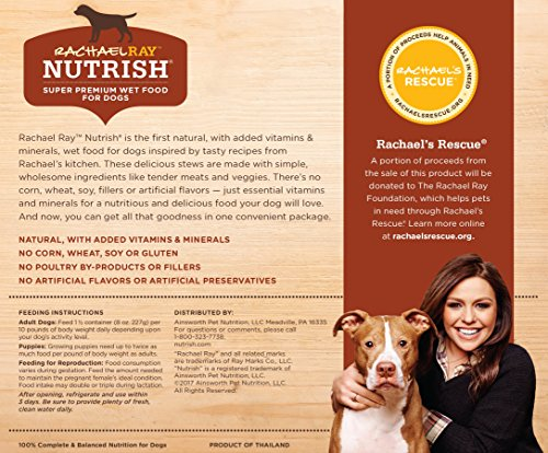 Rachael-Ray-Nutrish-Natural-Wet-Dog-Food-Variety-Pack-Grain-Free-8-oz-tub-Pack-of-6