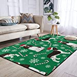 Super Soft Modern English Springer Spaniel Santa Christmas Area Rugs Living Room Carpet Bedroom Rug for Children Play Solid Home Decorator Floor Rug and Carpets 210 x 150 cm 9