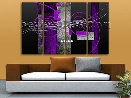 Amazon.com: Extra Large Modern Abstract Painting Decor Wall Art ...