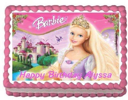 Barbie Sheet Cake Images : Barbie Cake Topper. DecoPac Barbie Love to Sparkle DecoSet ...