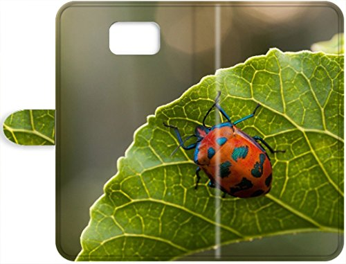 DKLZY New Arrival Leather Case Cover With Tectocoris diophthalmus (Cotton Harlequin Bug) Insect Samsung Galaxy Note 8 Phone Leather Case