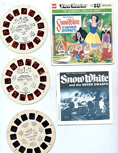 Three Viewmaster Reels - View Master Snow White and the Seven Dwarves 3 Reels K69