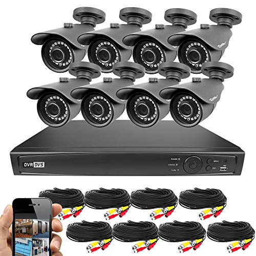 Best Vision 16CH 4-in-1 HD DVR Security Camera System (1TB HDD), 8pcs 1080P High Definition Outdoor Cameras with Night Vision - DIY Kit, App for Smartphone Remote (Vision Surveillance Kit)