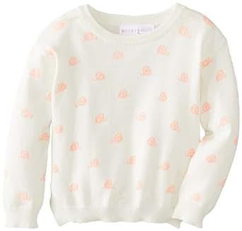 Roxy Baby Girls' Sea Pine Sweater, Sea Spray Snail Print, 12 Months