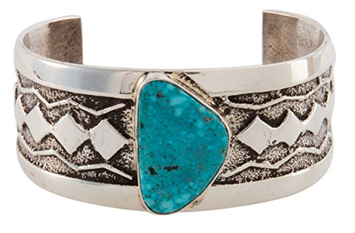 Kingman Turquoise Bracelet (Navajo Native American Kingman Turquoise Bracelet by Delford)