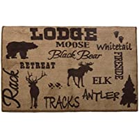 HiEnd Accents Lodge Bath Kitchen Rug, 24 x 36