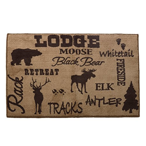 HiEnd Accents Lodge Bath and Kitchen Rug, 24