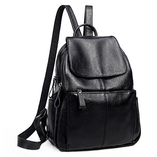 UTO Fashion Shoulder Bag Mochila PU Cuero Mujer Niñas Mochila Bolsa de viaje de la escuela