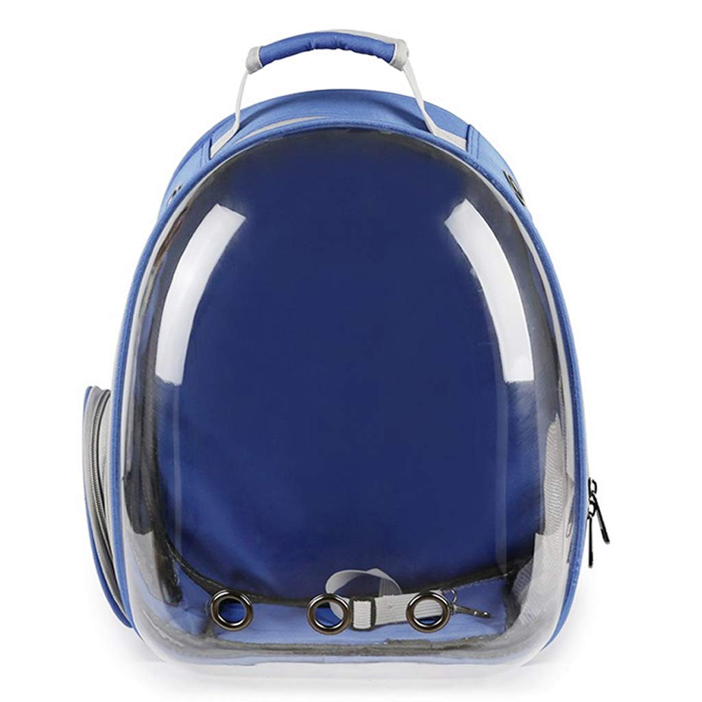 PLL Dark bluee Pet Backpack Full Transparent Backpack Pet Out Portable Breathable Backpack Dog Backpack