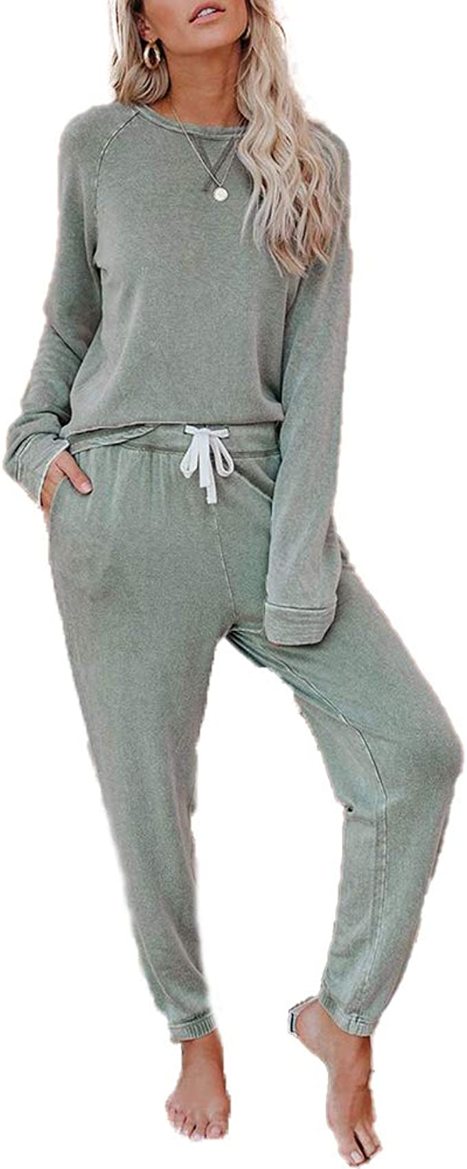 Details about  /US 2PCS Women Comfy Pajamas Set Loose Cold Shoulder Tops Short Pants Loungewear