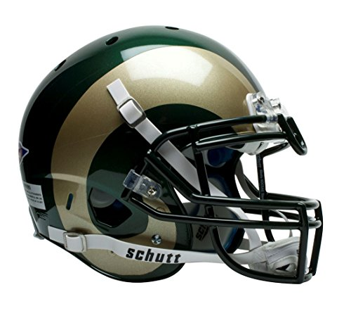 Schutt Colorado State Rams Official NCAA 14 inch x 12 inch XP Authentic Full Size Helmet by Sports 761034 by Schutt