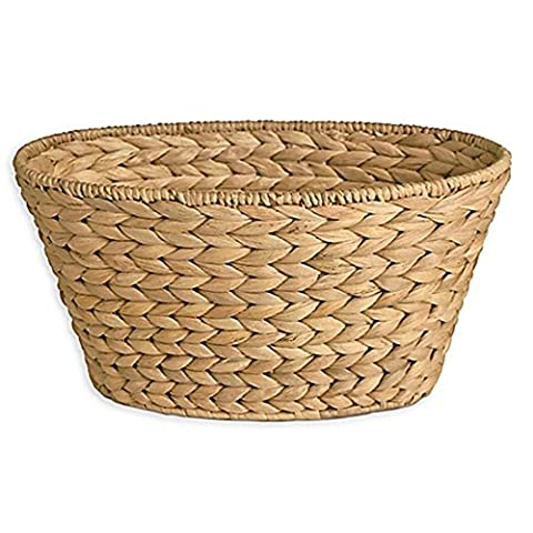 Dawson Boutique Hand-woven Wicker Oval Utility Basket, Bath Accessory will elevate your bathroom - Hand Woven Oval Basket