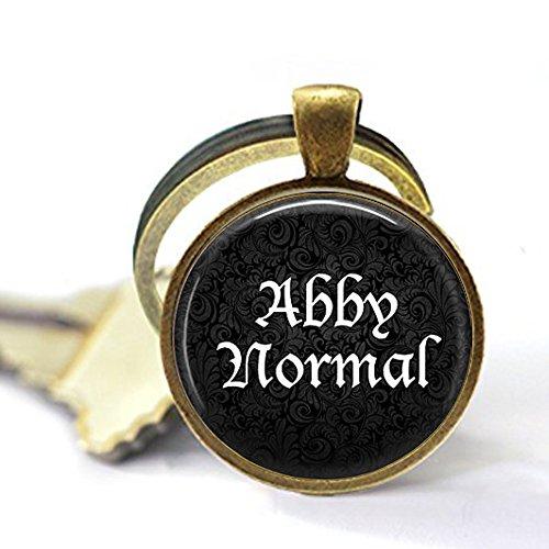 Abby Normal Keychain - Funny Quote Jewelry - Abnormal - Frankenstein Jewelry - Cosplay Keychain