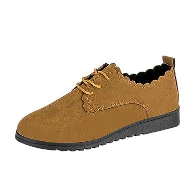 Zapatos de Mujer, ASHOP Casual Planos Loafers Short de Ante Plano de Tobillo Mocasines de