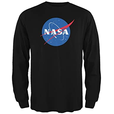 6269f6f3 Amazon.com: NASA Logo Black Adult Long Sleeve T-Shirt: Clothing