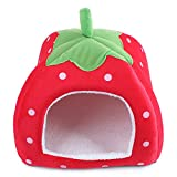 Cheap Suicazon Small Animal House Doggy kitty Strawberry Soft Home, Red M