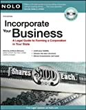 Incorporate Your Business, Anthony Mancuso, 1413310281